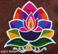 Try these Easy-peasy n stylish Rangoli to decorate your Doors, Staircase n Alleys. Easy Rangoli Designs Diwali, Simple Rangoli Designs Images, Rangoli Designs Latest, Rangoli Designs Flower, Free Hand Rangoli Design, Rangoli Border Designs, Small Rangoli Design, Rangoli Patterns, Colorful Rangoli Designs