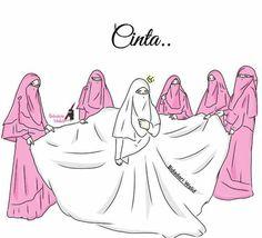 Muslim Girls, Muslim Couples, Crown Illustration, Deviantart Drawings, Hijab Drawing, Islamic Cartoon, Islam Women, Hijab Cartoon, Love In Islam