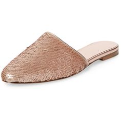 kate spade new york shoes Women's Marks Sequin Mule - Gold, Size 10 (625 HRK) ❤ liked on Polyvore featuring shoes, gold, gold mules, stacked heel shoes, gold sequin shoes, mule shoes and gold shoes