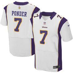 Youth Nike Minnesota Vikings #7 Christian Ponder Elite White Jersey$79.99
