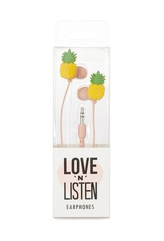 Pineapple Dream Headphones | FOREVER21 - 1000105850 US $6.80, Forever 21 US