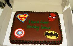 Super Hero Boy's Birthday Cake made for a friend
