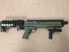 KSG with brake, top extended rail, utg vertical grip and more. KSG shotgun, home defense, guns, 12gauge, tactical, light weight ammo holder