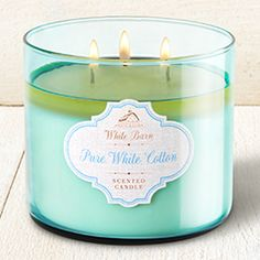 Pure White Cotton 3-Wick Candle - Home Fragrance 1037181 - Bath & Body Works