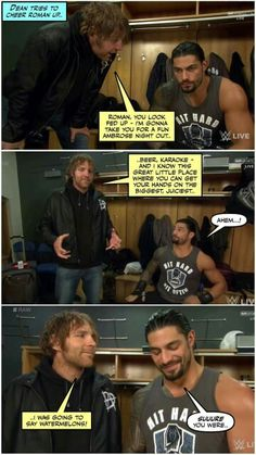 Roman is married Dean if you have forgotten