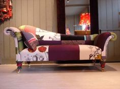this is cool - patchwork chair - would make an excellent feature piece for a room
