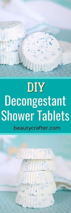 DIY Decongestant Shower Tablets recipe -- homemade shower soothers