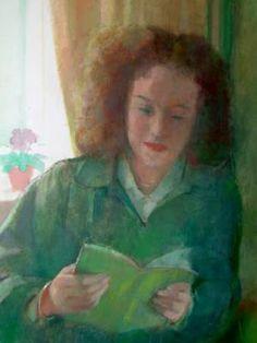 Carr, Tom (1909-1999) Girl reading, 1989