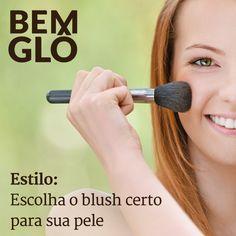 Hoje a gente te ensina a escolher o tipo certo de blush para cada pele. Vem com a gente e confira! ;) #bemglo #estilo #oblushcerto