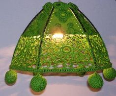 More Crochet Lampshade inspiration from Crochet Knit Unlimited!