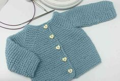 Elf baby jacket pattern by Ana Alfonsin – Knitting Patterns Beginner Baby Knitting Patterns, Baby Sweater Patterns, Baby Cardigan Knitting Pattern, Knitted Baby Cardigan, Toddler Sweater, Knit Baby Sweaters, Knitted Baby Clothes, Knitting For Kids, Baby Patterns