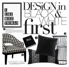 """""""design in black&white first"""" by lux-life ❤ liked on Polyvore featuring interior, interiors, interior design, home, home decor, interior decorating, Madison Park, East End Prints, Artology and Dar"""