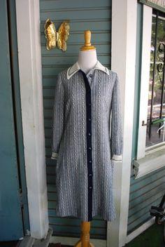 1970's secretary style dress SIZE M by CerealVintageThrift on Etsy, $28.00