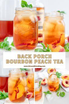 Peach Alcohol Drinks, Alcoholic Iced Tea, Iced Tea Cocktails, Peach Drinks, Bourbon Cocktails, Alcohol Drink Recipes, Smoothie Drinks, Smoothies, Sweet Tea Cocktail