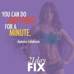 The 21 Day Fix consists of 7 different 30 minute workouts, that are done for a three week period.  The second element of course is nutrition. The 21 Day Fix teaches you portion control. With this program, you can improve your health and fitness in less time, and get incredible results that would normally take 60 to 90 days to achieve.  The 21 Day Fix program is a one of a kind system that uses containers to teach you an easy, fast, and accurate way to control how much you eat.