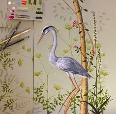 Snijder&CO hand-painted wallpaper artists Jaap Snijder and Marcelo Gimenes
