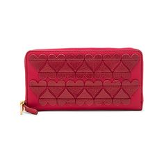 Marc Jacobs Stitched Heats Standard Continental Wallet ($175) ❤ liked on Polyvore featuring bags, wallets, handbags, red zip around wallet, continental wallets, marc jacobs, marc jacobs bags and stitch wallet