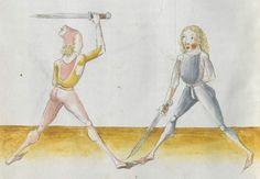 Lecküchner, Hans: Kunst des Messerfechtens Nordbayern, 1482 Cgm 582 Folio 382