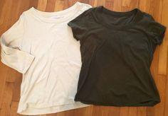 Women's #2TopT-ShirtLot #ColdwaterCreek #Ivory #Brown #ScoopNeck Short Sl #M http://www.ebay.com/itm/Womans-2-Top-T-Shirt-Lot-COLDWATER-CREEK-Ivory-Brown-Scoop-Neck-Short-Sl-Sz-M-/321933922331 #topsblouses