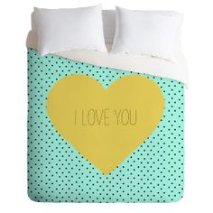 Allyson Johnson I Love You Duvet Cover | DENY Designs Home Accessories