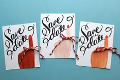Save the date printable. Adorable! @Carla Dias