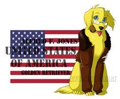 REVAMPHetalia Dogs: America by snickerdoots on DeviantArt