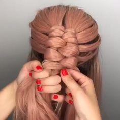 For more braid videoo tutorials just visit our website! #hairtutorial #videotutorial #hairvideos #braidedhair #dutchbraid #frenchbraid #fishtailbraid #braids