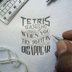 """O trabalho delicado e preciso de do designer da Indonédia Dexa Muamar. Siga no insta: """"If You're going to be Weird, be Confident about it"""" – anon #letteringmala"""