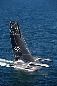 Maxi Spindrift 2 is the largest racing trimaran in the world (40 meters). #sailing #spindrift2 #spindriftracing #boat #trimaran