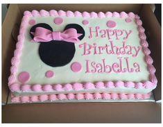 Mini Mouse Birthday Cake, Happpy Birthday, Minnie Mouse First Birthday, Birthday Sheet Cakes, Mickey Mouse Birthday, First Birthday Cakes, Minnie Mouse Party, 2nd Birthday Parties, Birthday Ideas
