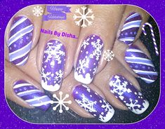 Different color for Christmas by nailsbydisha - Nail Art Gallery nailartgallery.nailsmag.com by Nails Magazine www.nailsmag.com #nailart