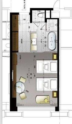 Resultado de imagen para typical w hotel guestroom plans