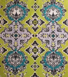 H-Bag?-Keepsake Calico Fabric- Green Damask With Teal & keepsake calico fabric at Joann.com