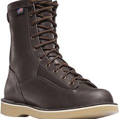 Danner delivers fresh boot styles like the Rain Forest Heathman, which sports a high workboot-ish upper paired with an ultra light/tough, city-friendly Vibram sole, plus formerly Japan-only styles like the leather-lined/ contrast-stitching Vertigo Crosby. #gear #shoes #boots #fashion