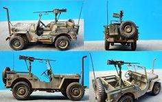 Willys Jeep w/ M2 Machine Gun 1:24 Scale Model