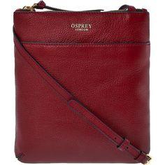 "abc37d0a8879 Osprey London. ""Osprey London"" Red Leather Across Body Bag – TK Maxx"