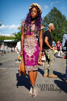 real style afropunk festival fashion bomb daily brandon isralsky  purple passion