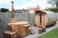 Afbeeldingsresultaat voor sauna in de tuin