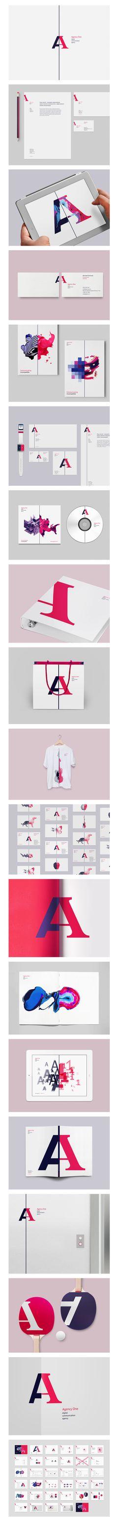 Agency One  Фирменный стиль © Вова Лифанов