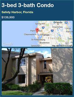 3-bed 3-bath Condo in Safety Harbor, Florida ►$139,900 #PropertyForSale #RealEstate #Florida http://florida-magic.com/properties/71596-condo-for-sale-in-safety-harbor-florida-with-3-bedroom-3-bathroom