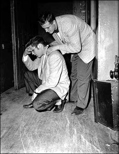 May 14, 1956: Elvis Presley plays the Twin Cities |     Elvis took a moment to compose himself after the Minneapolis show.  |  Elvis Presley arrived in the Twin Cities on May 13, 1956, to play two concerts: a matinee at the St. Paul Auditorium and an evening gig at the Minneapolis Auditorium.