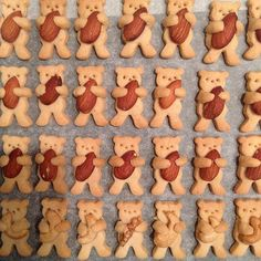 These Nut-Hugging Bear Cookies Are Almost Too Cute To Eat Really nice recipes. Best Christmas Cookie Recipe, Christmas Food Gifts, Diy Christmas, Teddy Bear Cookies, Teddy Bears, Cute Cookies, Cookies Et Biscuits, Cute Food, Cookie Recipes