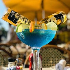 Today's #margaritaoftheday is a repost from @foodparooze When in MIAMI  Blue Curaçao MARGARITA with Corona #mondayblues  #margarita #tequila #instacocktail #margaritaville #thesaltedrim Blue Curacao, Cocktails, Drinks, Miami, Boat, Ocean, Instagram, Margaritas, Drinking