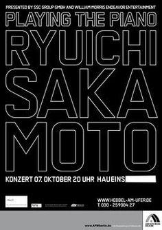 Ryuichi Sakamoto Playing the Piano 2009 Europe à Hebbel am Ufer (Berlin) le 7 oct. 2009 – Last.fm