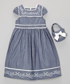 Take a look at this Blue Babydoll Dress & Purse - Toddler & Girls on zulily today!