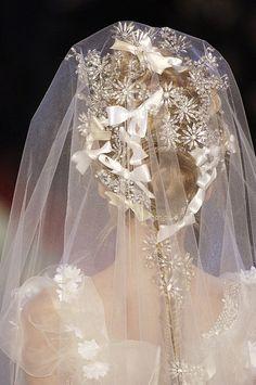 White bridal veil #wedding #veils #OuterInner