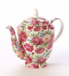 Flowered Teapot