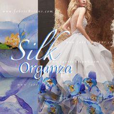 unique wedding dress blue and white. Orange silk fabric by fabricAsians Organza Dress, Silk Organza, Silk Chiffon, Silk Fabric, Bridal Fabric, Wedding Fabric, Trumpet Dress, Blue Wedding Dresses, Green Silk