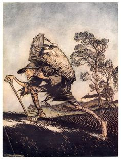 Arthur Rackham's Rare and Revolutionary 1917 Illustrations for the Brothers…