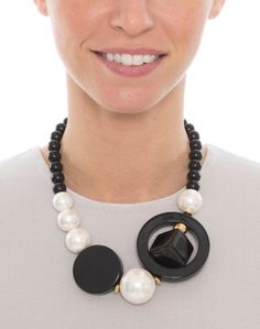 Pearl and Black Beaded Elpis Necklace | Diana Broussard | Halsbrook